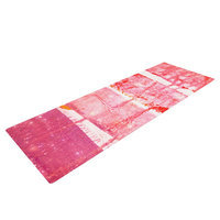 Kess Inhouse Coral Paint Wash by Iris Lehnhardt Yoga Mat