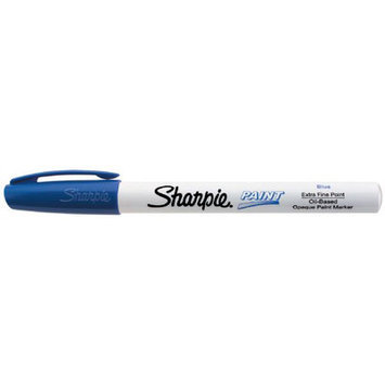 Eberhard Faber Sharpie Blue Extra Fine Point Oil-Based Paint Marker 35528