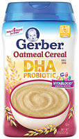 Gerber® Oatmeal Cereal Single Grain DHA & Probiotic 8 oz. Canister