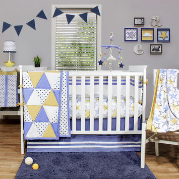 The Peanut Shell Stargazer 4 Piece Crib Set