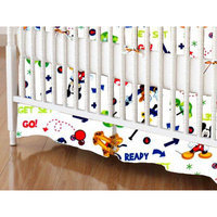 Stwd Go Mickey Mouse Crib Skirt