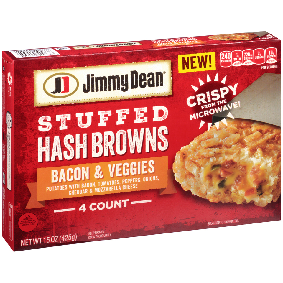 Jimmy Dean® Bacon & Veggies Stuffed Hash Browns 15 oz. Box