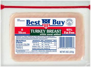 Best Buy 97% Fat Free 8 Slices Sliced Turkey Breast 8 Oz