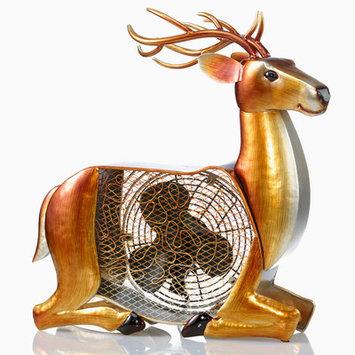 Deco Breeze DBF0227 Multi Colored Figurine Fan Deer