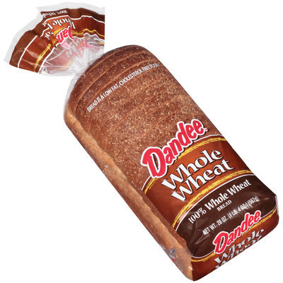 Dandee® 100% Whole Wheat Bread 20 oz. Bag