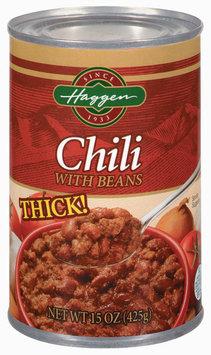 Haggen W/Beans Chili 15 Oz Can
