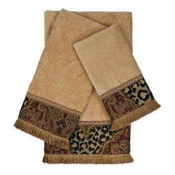 Sherry Kline Tangiers Decorative Embellished 3 Piece Towel Set