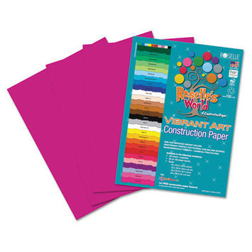 Roselle Paper Co 62001 Heavyweight Construction Paper 58 Lbs. 9 X 12 Magenta 50 Sheets/pack