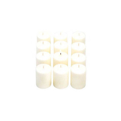 Light Technology Pub 15 Hour White Unscented Votive Candles Set of 36