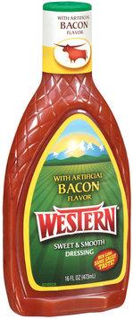 Western Bacon Flavor Salad Dressing 16 Oz Plastic Bottle