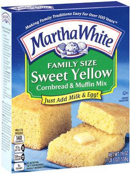 Martha White® Sweet Yellow Cornbread & Muffin Mix 19 oz. Box