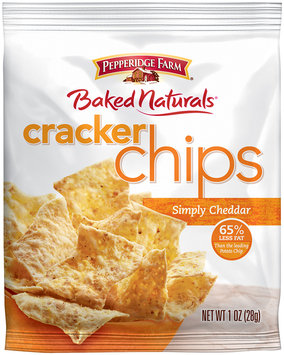 Pepperidge Farms® Baked Naturals® Simply Cheddar Cracker Chips 1 oz. Bag