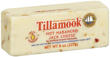 Tillamook Hot Habanero Jack Cheese 8 Oz Chunk