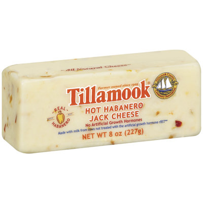 Tillamook Hot Habanero Jack Cheese 8 Oz Chunk