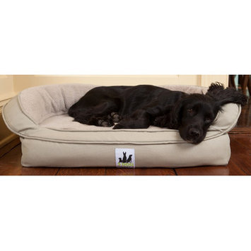 3dogpetsupply Fleece Headrest Dog Bed with Memory Foam Color: Sage, Size: Medium (39