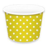 LolliZ Treat Cups 8Oz Polka Dots-Yellow 12 Pcs