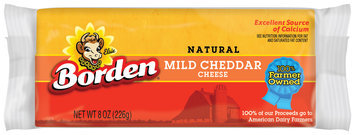 Borden Mild Cheddar  Cheese 8 Oz Brick