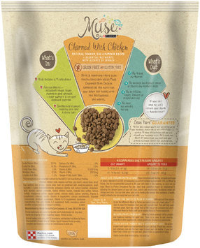 Muse by Purina Charmed With Chicken Natural Chicken, Egg & Pumpkin Recipe Cat Food 1 lb. Pouch