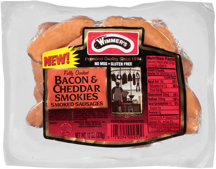 Wimmer's® Bacon & Cheddar Smokies Smoked Sausages