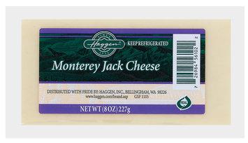 Haggen Monterey Jack Cheese 8 Oz Brick