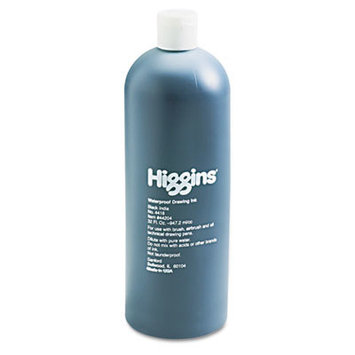 Higgins Waterproof India Ink for Art/Technical Pens, 32-oz