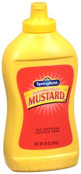 Springfield® Traditional Yellow Mustard 20 oz. Bottle