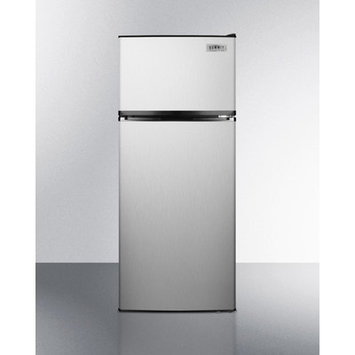 Summit Appliance Refrigerator. 10.3 cu. ft. Top Freezer Refrigerator in Stainless Steel FF1158SS
