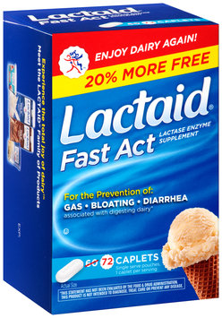 Lactaid® Fast Act Lactase Enzyme Supplement Caplets 72 ct. Box