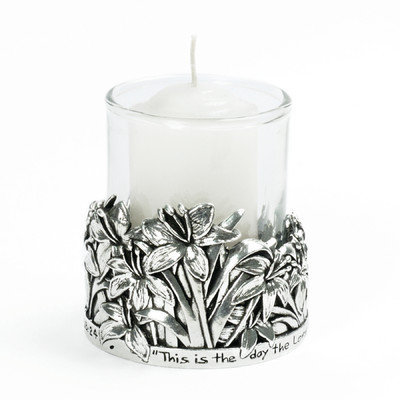 Bobsiemondesigns Lilies / Psalm 118:24 Votive Candle