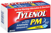 Tylenol® Caplets Club PM Extra Strength 225 Ct Box
