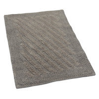 Textile Decor Castle 100% Cotton Shooting Star Reversible Bath Rug, 60 H X 22 W, Stone