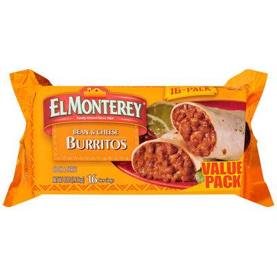 El Monterey® Bean and Cheese Burritos 16 ct Bag