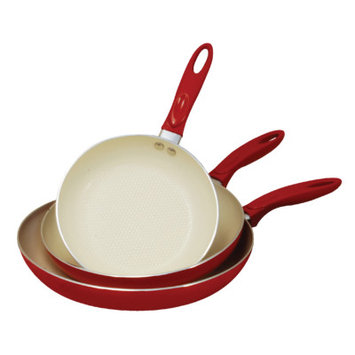 Cook Pro, Inc. Professional Aluminum 3-piece Ceramic Nonstick Cookware Set