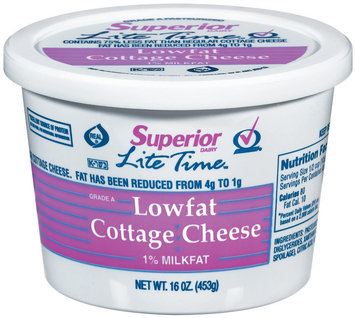 Superior Lite Time Lowfat Cottage Cheese 16 Oz Plastic Tub