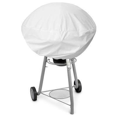 KoverRoos 13052 Weathermax Small Kettle Cover White - 27 Dia x 23 H in.