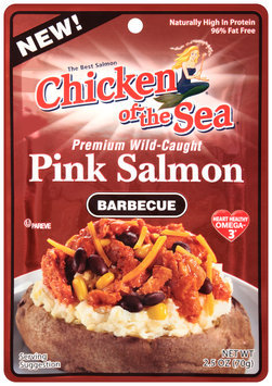 Chicken of the Sea® Barbeque Premium Wild-Caught Pink Salmon 2.5 oz. Pouch