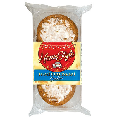 Schnucks Homestyle  Soft & Chewy Iced Oatmeal Cookies 10 Oz Tray