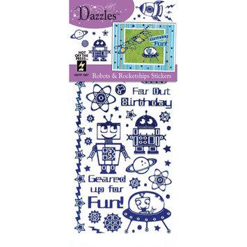 Dazzles Robots & Rocketships Stickers