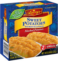 Larry's® Sweet Potatoes with Brown Sugar Streusel Mashed Potatoes 2 ct. Box