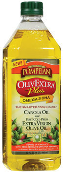 Pompeian Olivextra Plus Omega-3 DHA Olive Oil 32 Oz Plastic Bottle
