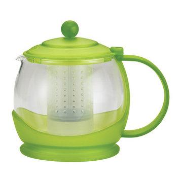 BonJour Prosperity 42-Ounce Glass Teapot, Jasmine Green