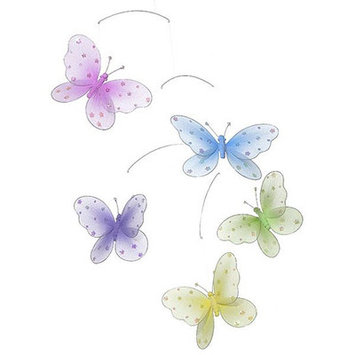 Heart To Heart Sequined Butterfly Mobile
