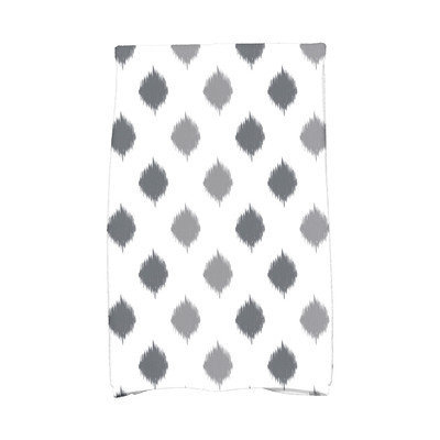 E By Design Hanukkah Ikat Dot Stripes Hand Towel Color: Gray