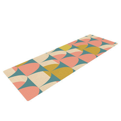 Kess Inhouse Scallops by Michelle Drew Yoga Mat