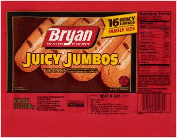 Bryan® Juicy Jumbos® Franks 16 ct Pack