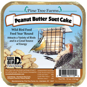 Pine Tree Farms Peanut Butter Suet Cake 3 Lb