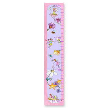 Stupell Industries Pink Princess and Flowers Growth Chat