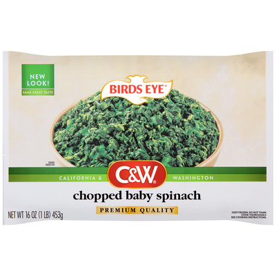 Birds Eye® C&W® Chopped Baby Spinach 16 oz. Bag