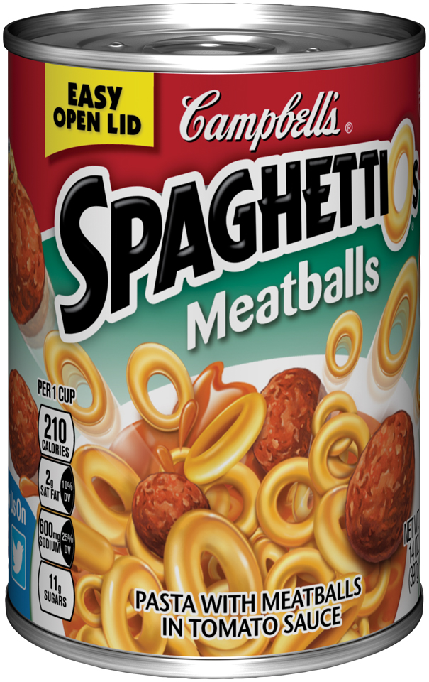 Campbell's SpaghettiOs Pasta with Meatballs in Tomato Sauce