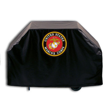 Holland Bar Stool Company US Armed Forces Grill Cover - Size: 36 H x 66 W x 21 D, Branch: Marine Corps